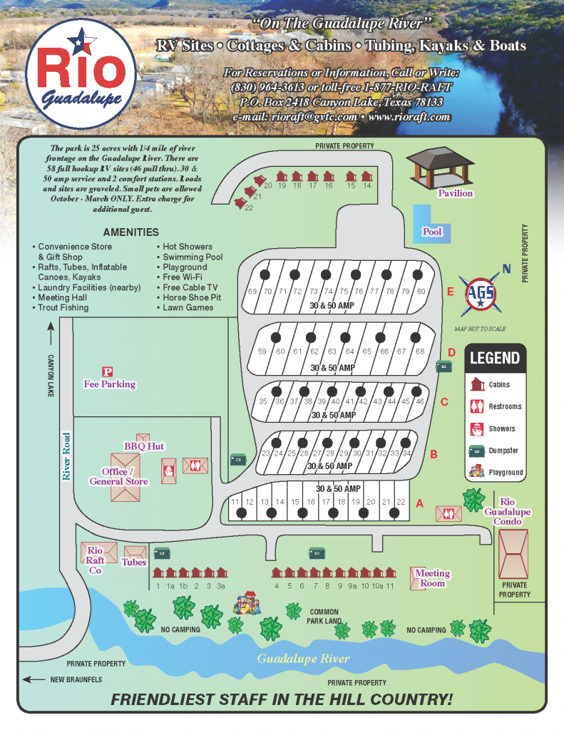 Rio Guadalupe Resort RV Park Map
