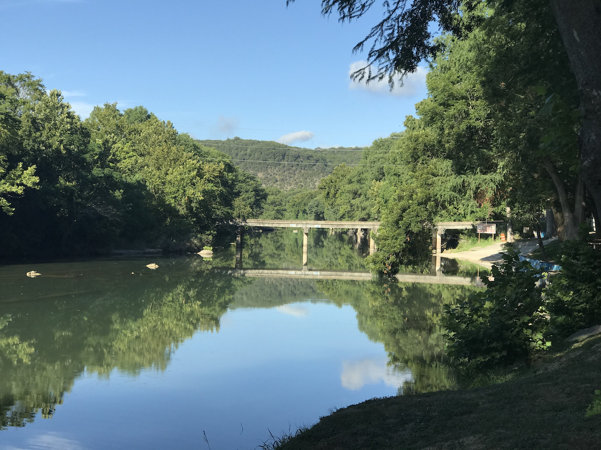 Camping near Guadalupe River