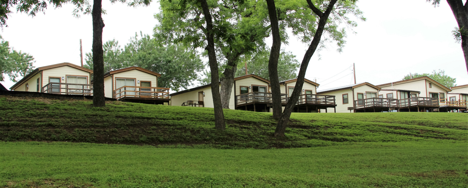 River front cabins on the Guadalupe...